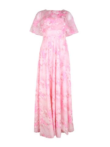 70s Pink Ruffled Occasions Dress - S