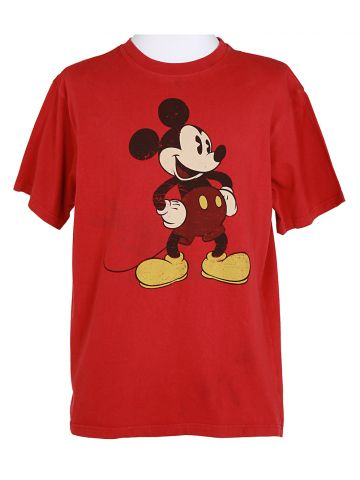 Red Mickey Mouse Disney T-Shirt - M