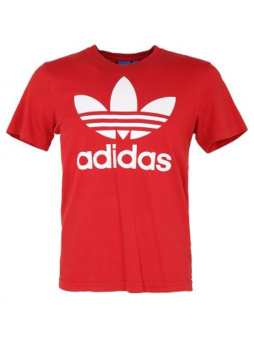 Adidas Red Classic Logo T-Shirt - S