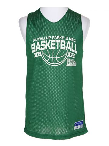 Puyallup Green Reversible Basketball Jersey - S