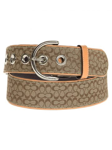 Coach Brown Leather Logo Belt