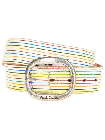 Paul Smith White Leather Belts W35 - W38